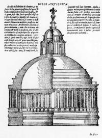 Bramantes Entwurf für die Kuppel, Serlio 3. Buch